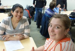 students at job club activity